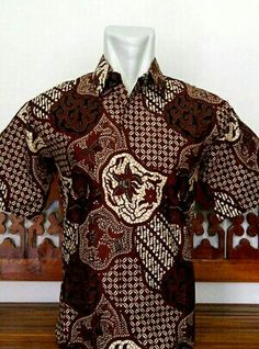 Kemeja batik motif sekar jagad batik solo 60000 idr