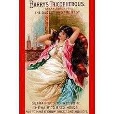 Buyenlarge 'Barry's Tricopherous - Long Hair' Vintage Advertisement Size: