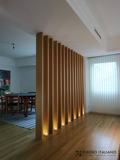 The Importance Of Interior Lighting Design In Life Page 33 Of 43 - Ceiling Decorations Living Room Partition Design, Room Partition Designs, Wood Partition, Partition Ideas, Living Room Divider, Design Room, House Design, Interior Modern, Office Interior Design
