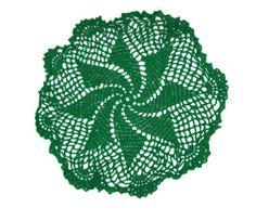 Green Pinwheel Doily St Patrick's Day by amydscrochet on Etsy, #PCFTeam  $13.00