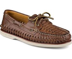 Sperry Top-Sider Gold Authentic Original 2-Eye Woven Boat Shoe