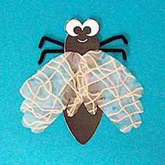 Hand print Fly. I think I would use wax paper for the wings and make it much easier to do.