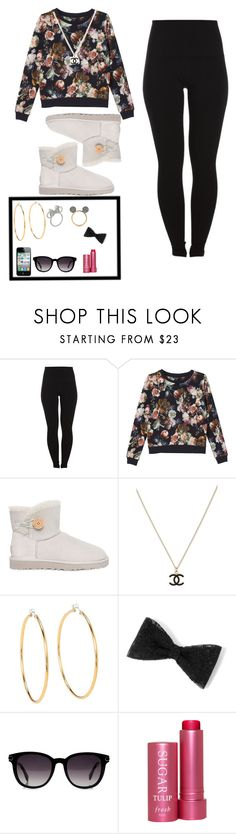 """Untitled #380"" by mimicherelus ❤ liked on Polyvore featuring Pieces, Monki, UGG Australia, Chanel, Juicy Couture, Disney, Fendi and Fresh"