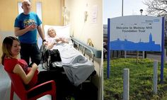 Great-grandmother forced to wait 13 hours next to the GENTS at A&E