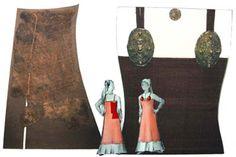 Hedeby / Haithabu apron dress fragment, 10th century