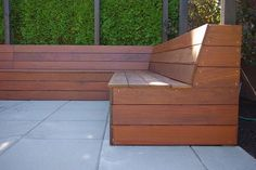 Outdoor built in seating idea. This would look lovely.