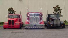 Lil Big Rig turns pickups into mini semis Kenworth Trucks, Ford Pickup Trucks, Dodge Trucks, Big Rig Trucks, Mini Trucks, Custom Big Rigs, Custom Trucks, Little Truck, Semi Trailer