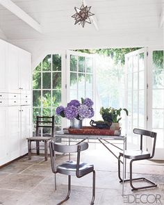 bright, airy cottage dining