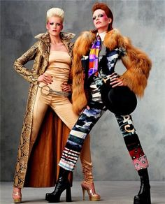 One of the BEST eds, November 2001 Vogue, Angela Mezaros and Hannelore Knuts as Angela and David Bowie respectively. Spot on.
