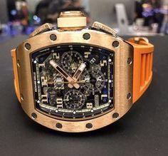 - Luxury Watches - Richard Mille Ivory with that orange strap is sweet. Richard Mille Ivory with that o. Richard Mille, Amazing Watches, Beautiful Watches, Patek Philippe, Audemars Piguet, Hublot Watches, Rolex, Gold Chains For Men, Men's Watches