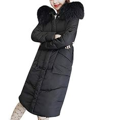 9d9d38d1308 Enjoy exclusive for Nadition Women s Coat Leisure Winter Coat Faux Fur  Hooded Collar Long Jackets Warm Thicken Padded Coat online
