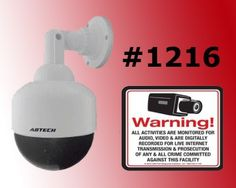 "VAS #1216 Mini 4 Speed Dome Dummy Camera LED Light & (1) 21st Century #140 Decal by VAS First Response. $29.95. Product Description: #1216 Now you can deter robbery, theft, and vandalism without the high cost of a real security camera. Even the most sophisticated criminals will think the premises are guarded by a high-tech surveillance system and go in search of an easier target. In fact, this is an actual surveillance camera that has been modified into a ""du..."