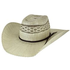 The Bailey Western Shandrach is a two-tone brown and natural bangora straw hat. It has been shaped into a brick crown and adorned with a brown tie band with a spur pin. Cowboy Hat Bands, Cowboy Hats, Leotard Fashion, Cheap Sneakers, Western Hats, Bag Clips, Wearing A Hat, Natural Brown, Tweed Jacket
