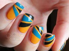 Retro 70`s nail art via #Danijela #nailblogger #stripedmani #pretty - bellashoot.com