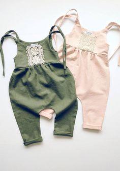 Handmade Linen & Lace Jumpsuits | Enterizo para niña