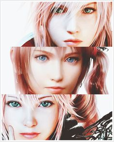 Lightning, Serah,  Lumina. are they all sisters?*----* looks like lightning is the most serious one.
