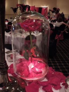 Beauty and the Beast Inspired Centerpiece(pic) :  wedding centerpiece disney diy romantic roses shabby shabby chic vintage Belle Flower