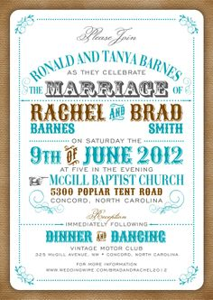 Vintage Poster Wedding Invitation Set on Behance
