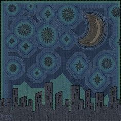 Night on the City by Derrick G. Wood. #art #cityscape #stars # starry night #surreal #surrealism #city #skyscraper #moon #instalike #instadaily #digitalart #photoshop #artfromhearts #srartwork #aartistic_dreamers #theartshed #magicgallery #artfido @artfido #artsanity