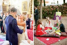 This Spanish-Moroccan wedding is inspiring.