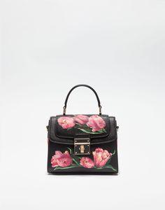 b72e8e8ab496 SMALL PRINTED DAUPHINE LEATHER ROSALIA HANDBAG Dolce Gabbana Online