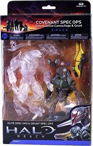 Halo Reach McFarlane Toys Series 5 Action Figure 2Pack Covenant Spec Ops by McFarlane Toys. $18.49. The sneaky Sangheili and his partner each come with a Plasma Grenade and another accessory! . Each action figure also comes with a Plasma Grenade. This follow-up to last series' Spartan Specter 3-pack continues the stealth theme with a pair of Covenant troops from the Special Operations branch..  How about a pair of Covenant troops from the Special Operations branch? 2...