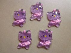 Kitty Ballerinas Purple & Pink Resin Flatback by SekeysScraps, $1.25