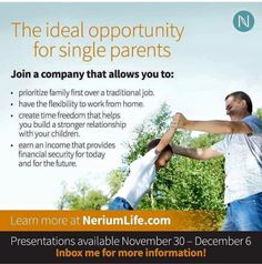 Who do you know that is a single parent?  Give them the best gift this Christmas.  The gift of time and financial freedom.  Jump on this webinar every hour on the hour by messaging me