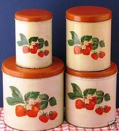 Strawberry Vintage Canister Set