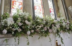 Pippa Middleton wedding: Flowers fill church where she wed | Daily Mail Online
