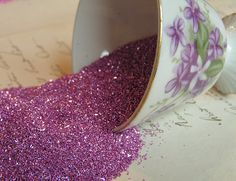 Lilac Blossom German glass glitter by andrea singarella, via Flickr