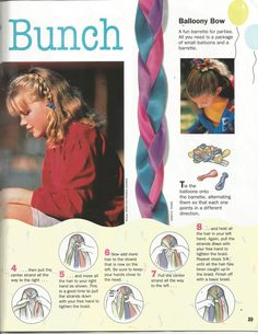 """American Girl Magazine - January 1993/February 1993 Issue - Page 30 (Part 2 of """"The Braiding Bunch"""")"""