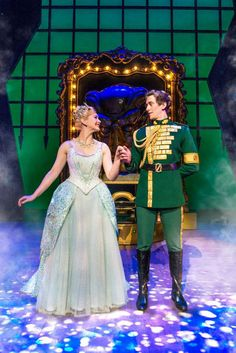 Savannah Stevenson (Glinda) and Oliver Savile (Fiyero). WICKED 2015/2016 London company at the Apollo Victoria Theatre. Photo by Matt Crockett: www.LOVEtheatre.com/tickets/1085/Wicked?sid=PIN