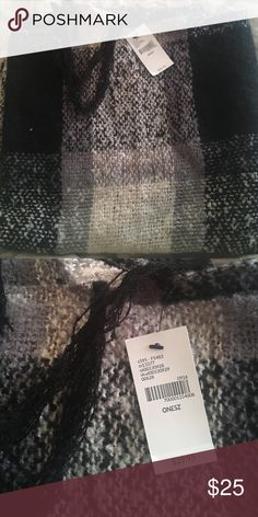 Lane Bryant shawl scarf Brand new Lane Bryant shawl scarf. White, grey and black Lane Bryant Accessories Scarves & Wraps