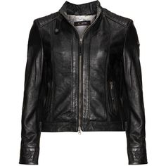 Cabrini Black Plus Size Stand-up collar leather jacket ($245) ❤ liked on Polyvore featuring outerwear, jackets, black, plus size, genuine leather jackets, zipper leather jacket, leather straight jacket, cropped jacket and motorcycle jackets