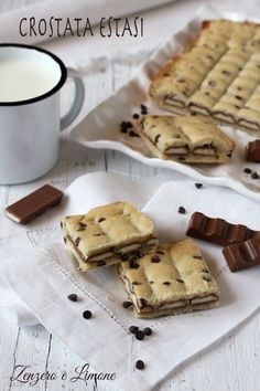 CROSTATA ESTASI Sweet Desserts, Sweet Recipes, Delicious Desserts, Dessert Recipes, Brownie Recipes, Chocolate Recipes, Confort Food, Sweet Pastries, Food Obsession