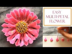 How to make a Chocolate Flower | Simple & Easy Petals - YouTube
