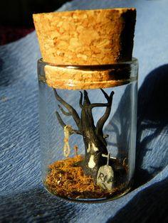 Spooky Tree  bottle Pendant by ThePurpleArtichoke7 on Etsy, €12.00