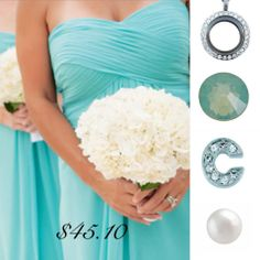 Teal themed bridesmaids. One Shoulder Wedding Dress, Teal, Bridal, Wedding Dresses, Bridesmaids, Fashion, Bride Gowns, Wedding Gowns, Moda