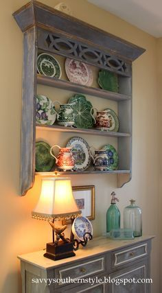 Love this look. I have a shelf similar in the basement. Might need to redo.