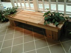 Step Guide of 16000 Carpentry Projects - Wood bench with built-in double planters Step Guide of 16000 Carpentry Projects - Get A Lifetime Of Project Ideas and Inspiration! Wooden Bench Plans, Woodworking Bench Plans, Woodworking Skills, Wood Plans, Woodworking Furniture, Teds Woodworking, Wood Furniture, Modern Furniture, Furniture Design