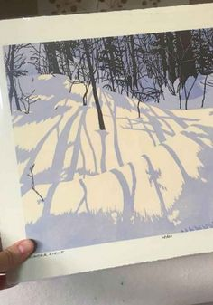 What made you become an artist? Winter Light, Winter Art, Landscape Illustration, Illustration Art, Graphic Novel, Etching Prints, Linocut Prints, Gravure, Woodblock Print