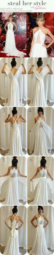 Várias formas de usar um vestido