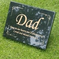 Tagged items: granite grave stone on Folksy Memorial Garden Plaques, Memorial Garden Stones, Anniversary Of Death Quotes, Dad Funeral Flowers, Grave Plaques, Headstone Inscriptions, Tombstone Designs, Plaque Design, Granite Colors