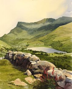 Dyffryn Nantlle, an original watercolour painting by Rob Piercy