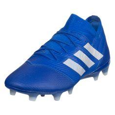 ca8ab9723 adidas Nemeziz 18.1 FG Soccer Cleats Blue White Blue-6.5