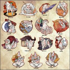Okami: Celestial God Stickers by Weissidian.deviantart.com on @deviantART
