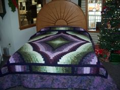QUICK TRIP Quilt in Purple and Green | Helping Hands Quilt Shop in Ohio