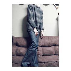 shuneck. 腰から膝までは細身なのに 膝から裾まで広がってるのが すごいお気に入り . #ファッション#fashion#code#コーデ #coordinate#コーディネート#今日の服 #今日のコーデ#ootd#outfit#ootd4mens #wear#instafashion#お洒落#オシャレ #お洒落さんと繋がりたい#デニム