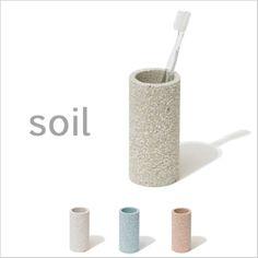 soil(ソイル)トゥースブラシスタンド珪藻土歯ブラシスタンド歯ブラシ立てハブラシスタンド吸水速乾吸湿SOIL日本製